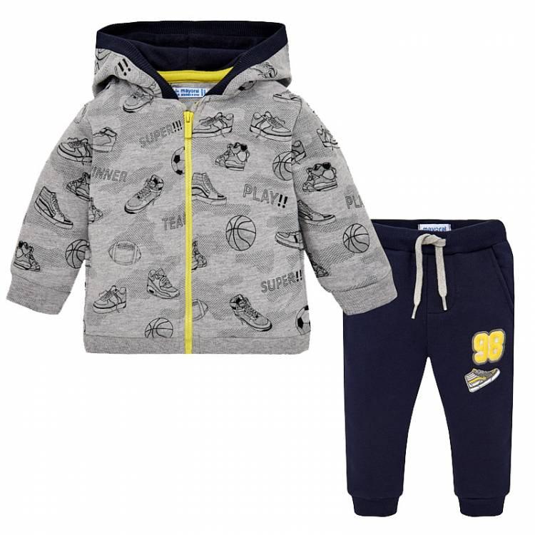 8c58982c8152 MAYORAL Φόρμα Φούτερ για Μωρό Αγόρι με Ζακέτα της Μαγιοράλ