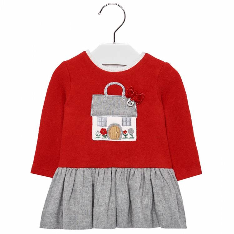 MAYORAL Φόρεμα Σπιτάκι για μωρό κορίτσι της Μαγιοράλ ffb2ee90d4f