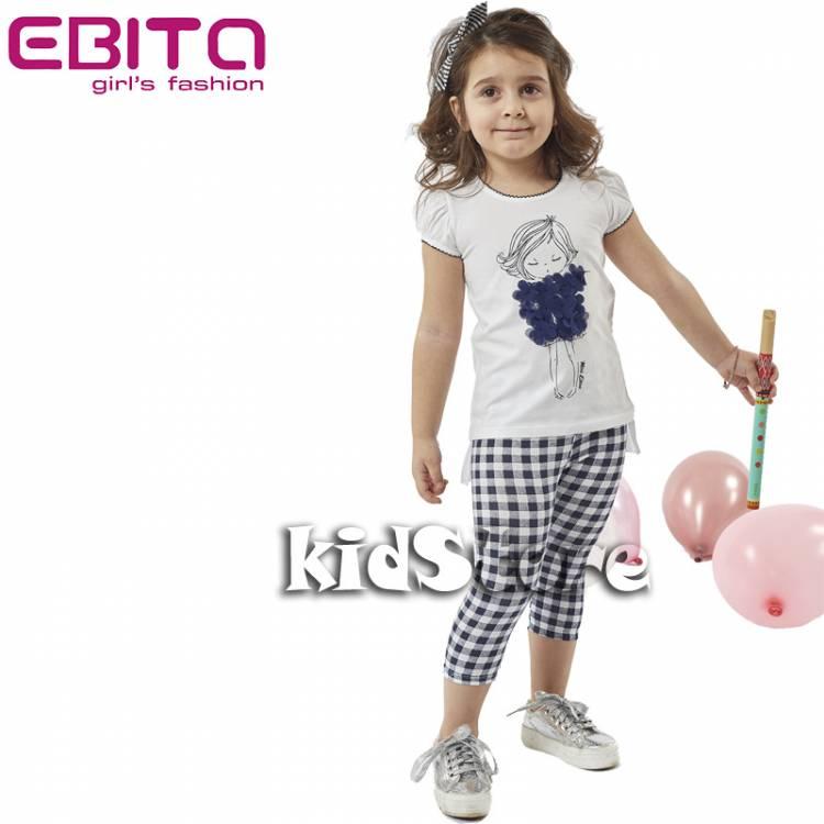 14b1fc9d1a28 EBITA Σετ μπλούζα με κολάν για κορίτσι Miss της Εβίτα