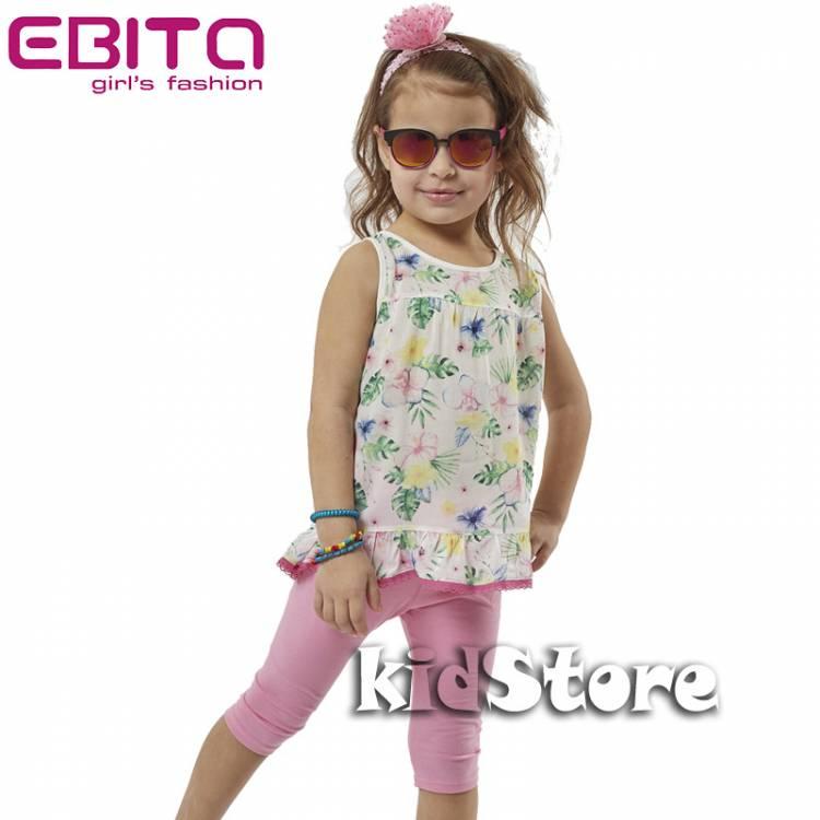 900890018484 EBITA Σετ μπλούζα με κολάν για κορίτσι Φλοράλ της Εβίτα