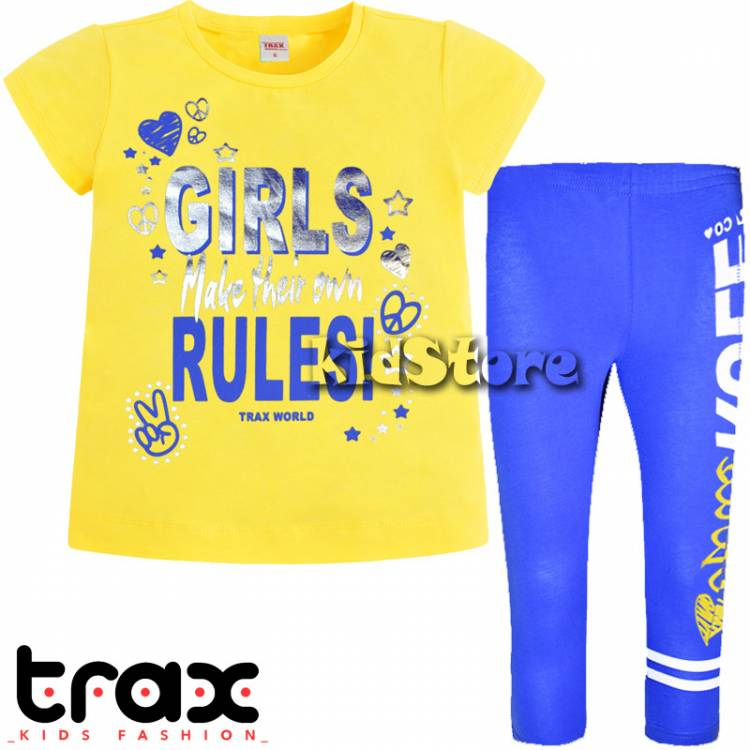 e5550f3aba7 TRAX Σετ μπλούζα με κολάν για κορίτσι Rules της Τραξ