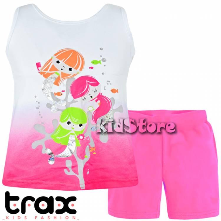 36e0560d452 TRAX Σετ μπλούζα με κολάν για κορίτσι Γοργόνες της Τραξ