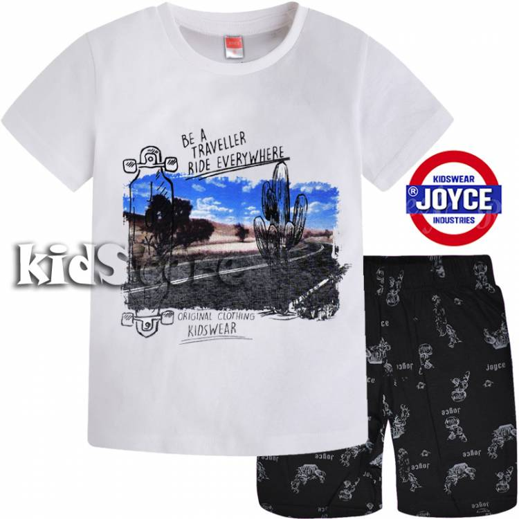 24a9f3044fe JOYCE Σετ μπλούζα με βερμούδα για αγόρι Κάκτος της Τζόις