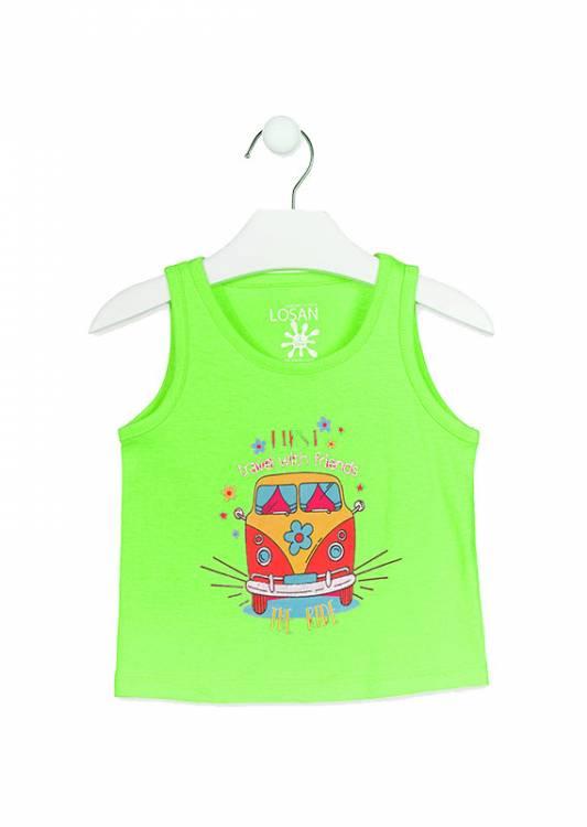 b66d90fb6c47 LOSAN Σετ μπλούζα με κολάν για κορίτσι First της Λοσάν