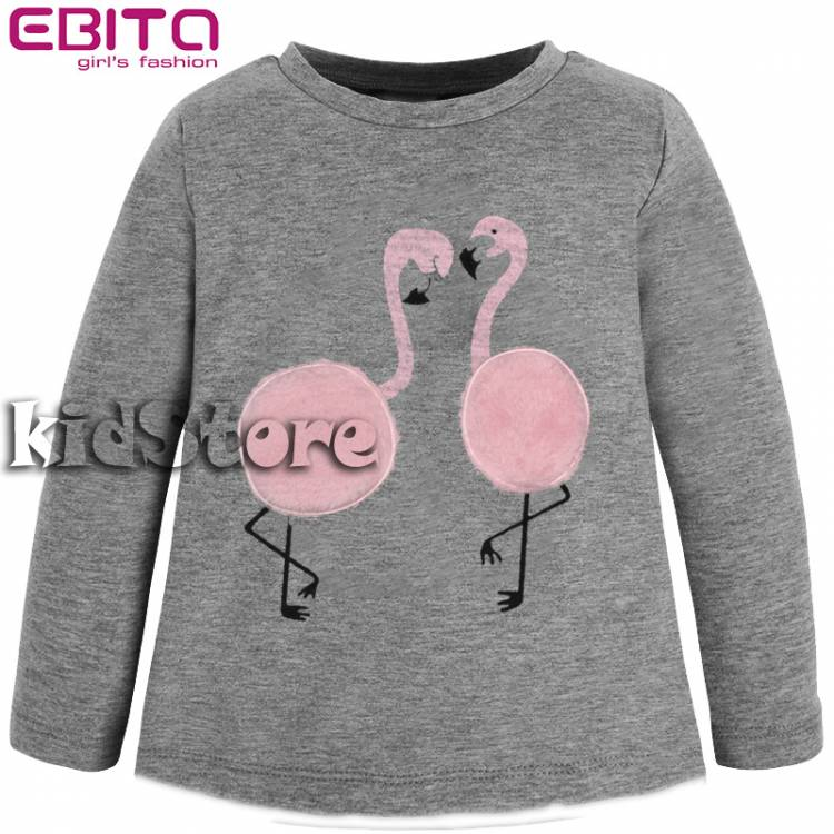 7afd907776c8 EBITA Μπλούζα για κορίτσι με απλικέ κύκνοι της Εβίτα