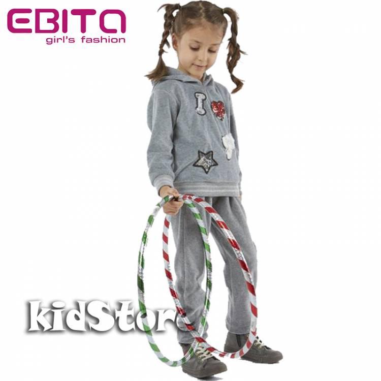 EBITA Φόρμα για κορίτσι από βελούδο Love της Εβίτα 340e43f4965