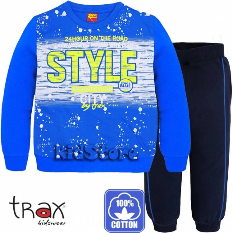 bfeea2da1b0 TRAX Φόρμα λεπτή για αγόρια Τραξ με τύπωμα STYLE
