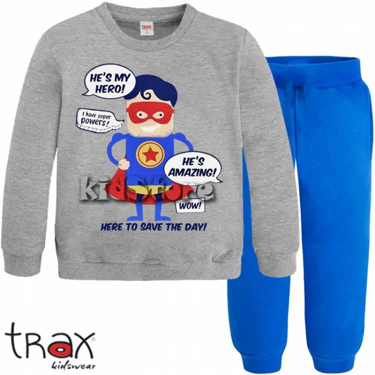 4bfb5d4246b TRAX Φόρμα παιδική για αγόρι Hero της Τραξ