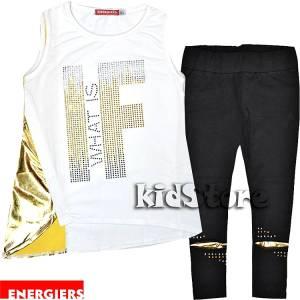 5830d3b43fc ENERGIERS Σετ μπλούζα με κολάν για κορίτσι με στρας της Ενερτζάιερς