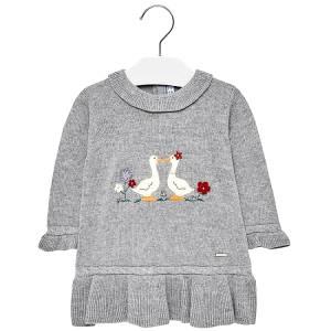 2843a49c981e MAYORAL Φόρεμα πλεκτό χήνες για μωρό κορίτσι της Μαγιοράλ