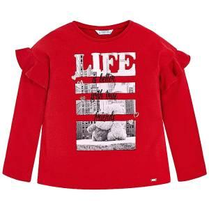 8dbaf23fd25 MAYORAL Μπλούζα μακρυμάνικη για κορίτσι Life της Μαγιοράλ