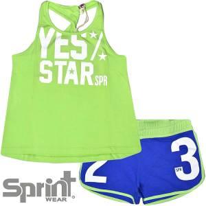 6f488191658 SPRINT Σετ μπλούζα με σορτς για κορίτσι Navy της Σπριντ