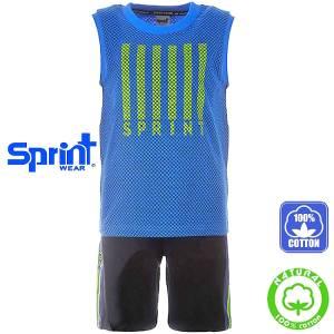 6719178e5ce SPRINT Σετ μπλούζα αμάνικη με βερμούδα για αγόρι Sport της Σπριντ