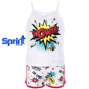 52b9bd7d96a SPRINT Σετ μπλούζα με σορτς για κορίτσι Wow της Σπριντ