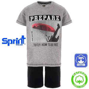 f831fed3ee5 SPRINT Σετ μπλούζα με βερμούδα για αγόρι Prepare της Σπριντ