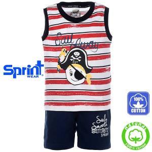 8de9ebe8700 SPRINT Σετ μπλούζα με βερμούδα για αγόρι Pirates της Σπριντ