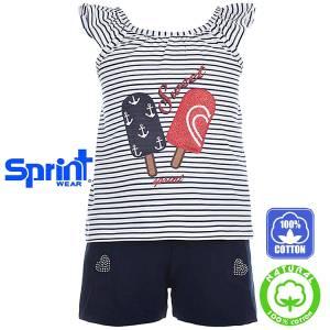 ef0e95d188e SPRINT Σετ μπλούζα με σορτς για κορίτσι Active της Σπριντ