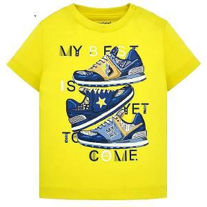 MAYORAL Μπλούζα για μωρό αγόρι με τύπωμα Shoes της Μαγιοράλ 36fbd35c397