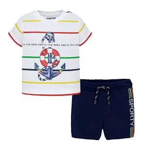 MAYORAL Σετ κοντομάνικο για μωρό αγόρι Sporty της Μαγιοράλ 10231b78a05