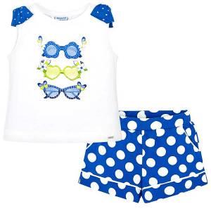 c5cdf8b49e29 MAYORAL Σετ μπλούζα και σορτς πουά για κορίτσι της Μαγιοράλ