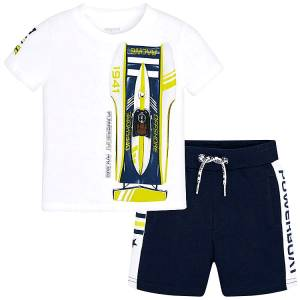 MAYORAL Σετ μπλούζα με βερμούδα για αγόρι Racing της Μαγιοράλ aa372d6fc1f