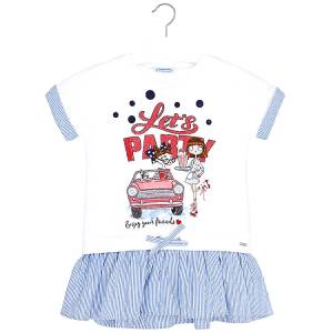MAYORAL Φόρεμα για κορίτσι τύπωμα party της Μαγιοράλ cd2b7bfec48