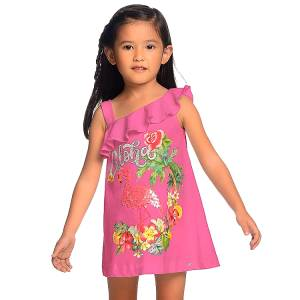 MAYORAL Φόρεμα για κορίτσι με πούλιες φλαμίνγκο της Μαγιοράλ 7d15852aa6d