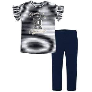 318af861fc61 MAYORAL Σετ μπλούζα με κολάν για κορίτσι Ριγέ της Μαγιοράλ