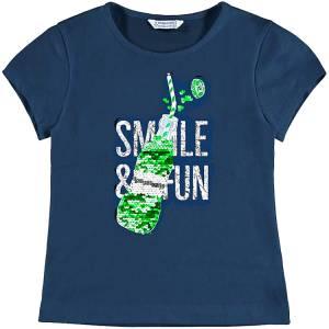 c809b253b723 MAYORAL Μπλούζα για κορίτσι με τύπωμα και πούλιες της Μαγιοράλ