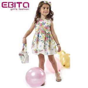 890c542422a EBITA Φόρεμα για κορίτσι με τσαντάκι και στέκα της Εβίτα