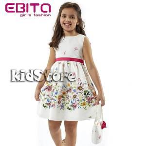 627763b572e EBITA Φόρεμα για κορίτσι με τύπωμα Λουλούδια της Εβίτα