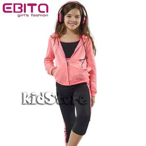 03e1b7c338d6 EBITA Σετ μπλούζα με ζακέτα και κολάν για κορίτσι Power της Εβίτα