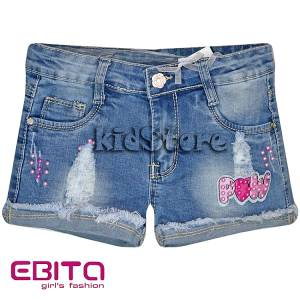 EBITA Σορτς τζιν για κορίτσι με φθορές της Εβίτα f3cbd11067d