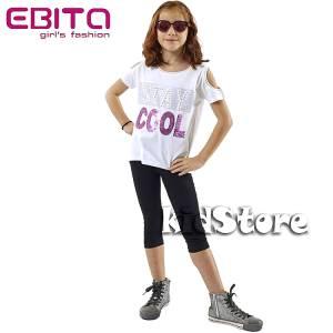EBITA Σετ μπλούζα με κολάν για κορίτσι με πούλιες Cool της Εβίτα d51710d9329