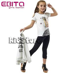 a3e50f233e98 EBITA Σετ μπλούζα με κολάν για κορίτσι Nice της Εβίτα