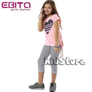 EBITA Σετ μπλούζα με κολάν για κορίτσι με πούλιες Love της Εβίτα bc5ff28b96f