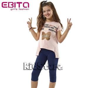 3f13a12e3fed EBITA Σετ μπλούζα με κολάν για κορίτσι με πούλιες More της Εβίτα