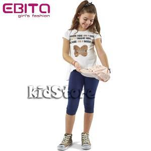 EBITA Σετ μπλούζα με κολάν για κορίτσι με πούλιες More της Εβίτα a43ac86359b