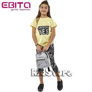 4ac87786be94 EBITA Σετ μπλούζα με κολάν για κορίτσι Yes της Εβίτα