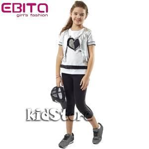 EBITA Σετ μπλούζα με ζακέτα και κολάν για κορίτσι της Εβίτα 90a3efe33eb