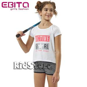 00eeb14b02e5 EBITA Σετ μπλούζα με σορτς για κορίτσι Active της Εβίτα