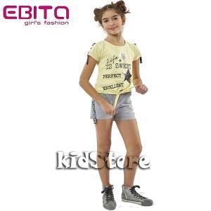 734025e99f2 EBITA Σετ μπλούζα με σορτς για κορίτσι Sweet της Εβίτα