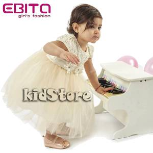 EBITA Φόρεμα συνδυασμένο με τούλι και δαντέλα για μωρό κορίτσι της Εβίτα 4a678ff8fbe