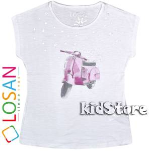 LOSAN Μπλούζα για κορίτσι κοντομάνικη Scooter της Λοσάν 70b3e85ae20