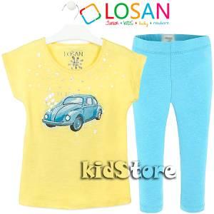 LOSAN Σετ μπλούζα με κολάν για κορίτσι Car της Λοσάν b94df9f8624