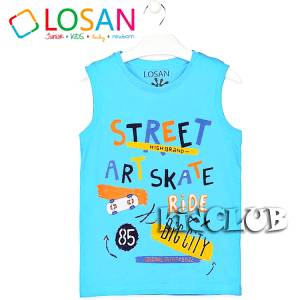 LOSAN Μπλούζα αμάνικη για αγόρι Street της Λοσάν 17e7b91567a