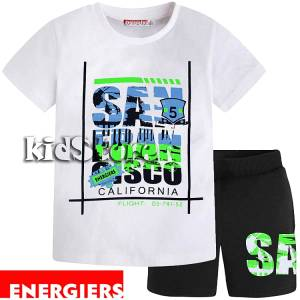 9683533875c ENERGIERS Σετ μπλούζα με βερμούδα για αγόρι Flight της Ενερτζάιερς