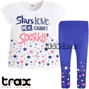 TRAX Σετ μπλούζα με κολάν για κορίτσι Sparkle της Τραξ 519e6aec366