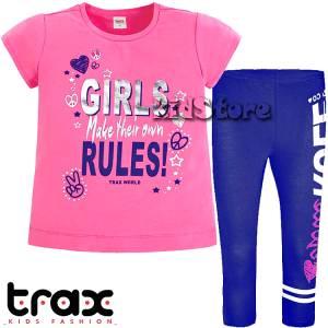 TRAX Σετ μπλούζα με κολάν για κορίτσι Rules της Τραξ 4201aebb652