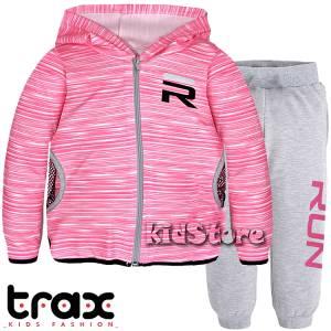 db3fb9c052b TRAX Φόρμα λεπτή για κορίτσι με τύπωμα Run της Τραξ